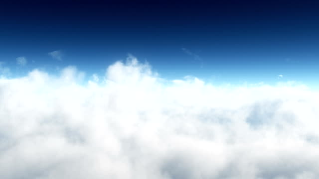 HD: Flight in clouds. Loopable background. video