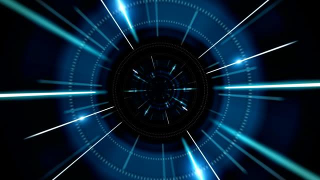 Flight in futuristic tunnel video