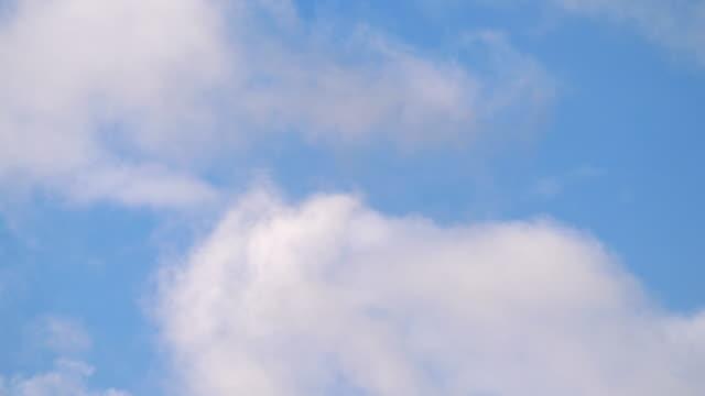 Flight in the clouds in 4K slow motion 30fps video
