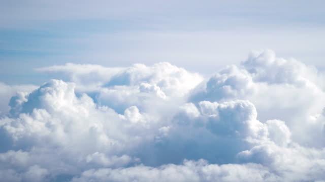 Flight in the clouds in 4K