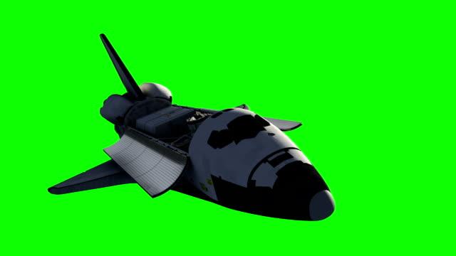 Flight Of Space Shuttle.Green Screen. video