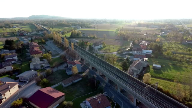 Flight over a town in Northern Italy video