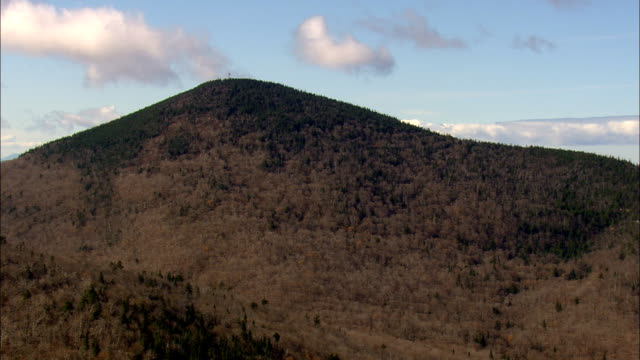 Flight Over Bald Mountain  - Aerial View - Vermont,  Orleans County,  United States video