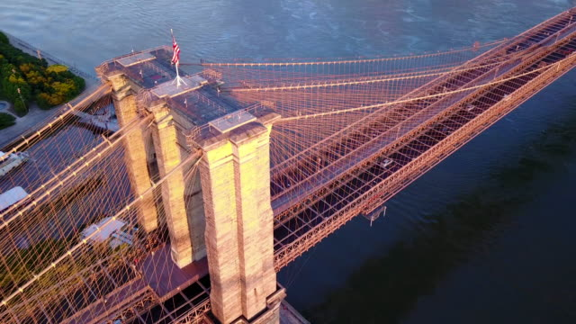 Flight over Brooklyn Bridge video
