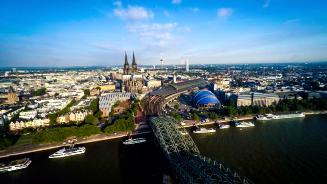 Flight over Cologne, Germany