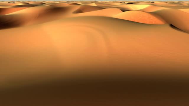 Flight over desert video