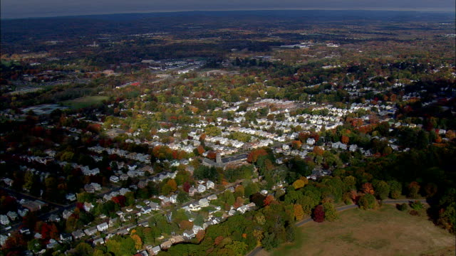 Flight Over Hartford Suburbs  - Aerial View - Connecticut,  Hartford County,  United States This clip was filmed by Skyworks on HDCAM SR 4:4:4 using the Cineflex gimbal. Connecticut,  Hartford County,   United States connecticut stock videos & royalty-free footage