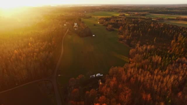 Flight over landscape