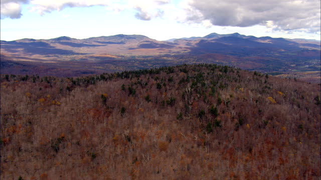 Flight Over Lowell Mountain  - Aerial View - Vermont,  Orleans County,  United States video