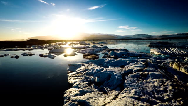 Flight over Melting Icebegs - Jokulsarlon Iceland video