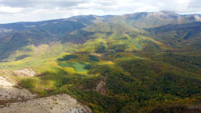 AERIAL: Flight over plateau slopes video