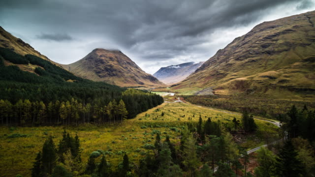 Flug über schottische highlands bei Glen Etive – Video
