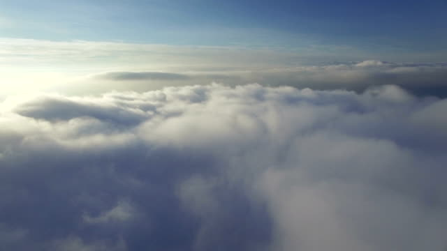 flight over the clouds video