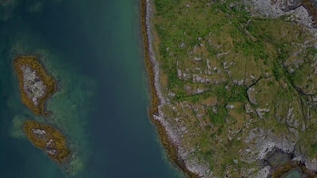 flight over the islands archipelago - arcipelago video stock e b–roll