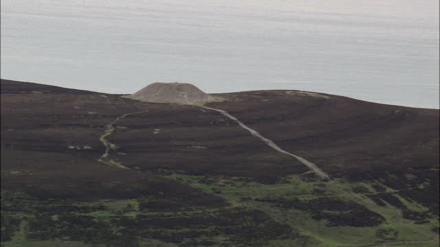 Flight Revealing Knocknarea Mountain  - Aerial View - Connaught, County Sligo, Ireland video