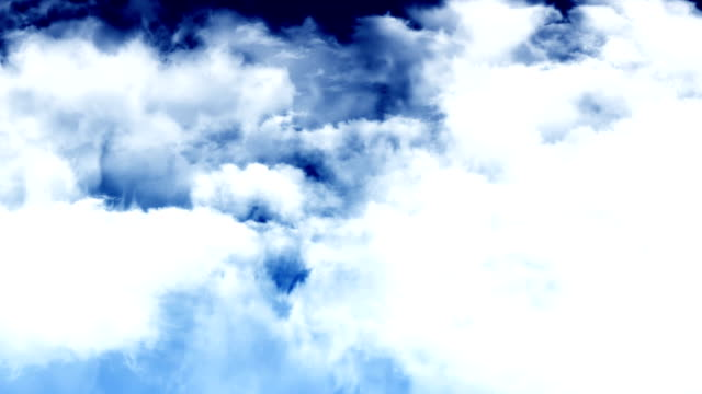 Flight Through Dark Blue Sky video