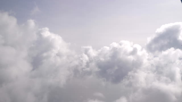 Flight through the clouds in 4K video