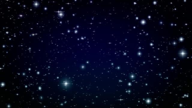 Flug durch den Sternen. Schlaufe animation. – Video