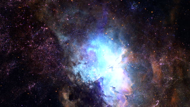 3d flight to stars galaxy. real space in 4k - space video stock e b–roll