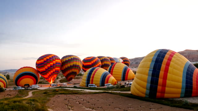 Flights on hot air balloons video