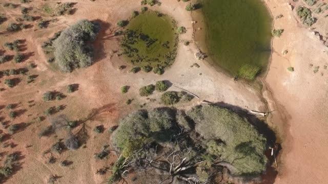 vidéos et rushes de la chaîne des flinders drone, montagnes - plan d'eau