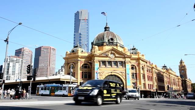 Flinders street station in Melbourne video