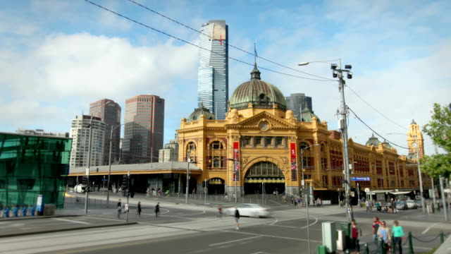 Flinders Street Station, Melbourne, Australia video