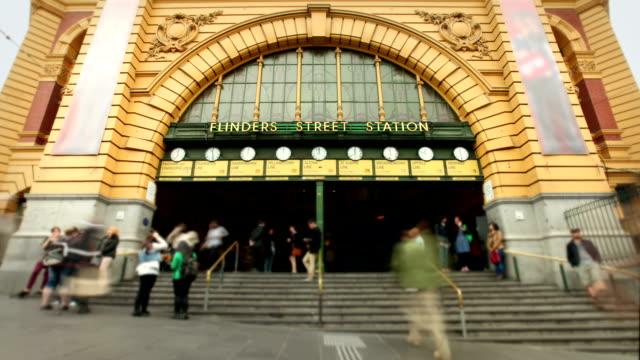 Flinders Street Station, Melbourne, Australia video