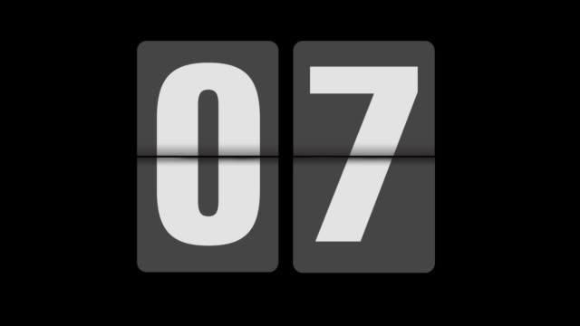 Flip clock 0-30 seconds realtime video