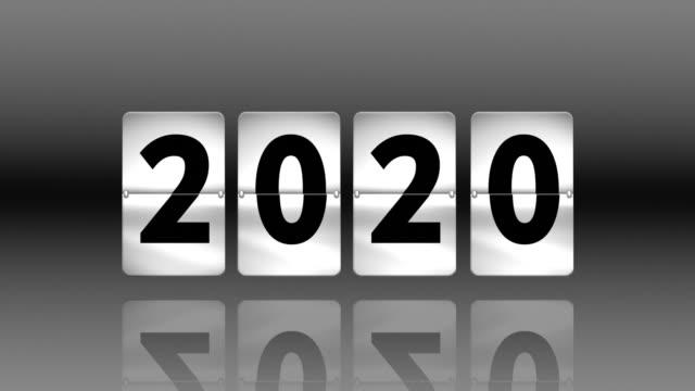 Flip clock countdown. Turning to 2020
