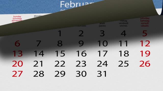 flip pasteboard calendario - 2016 video stock e b–roll