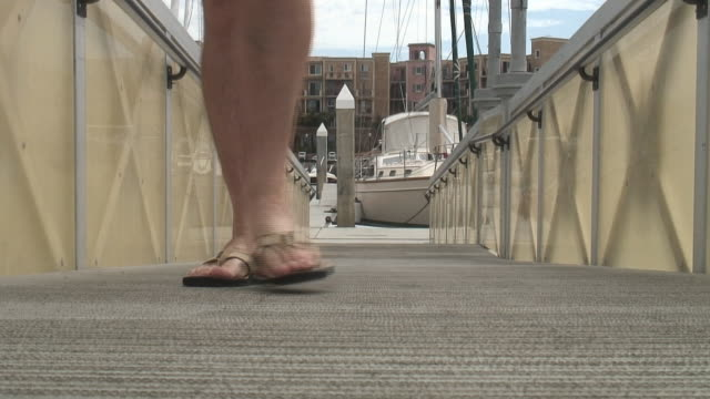 HD: Flip-flops, Thongs, Jandals on Boat Dock - Coming video