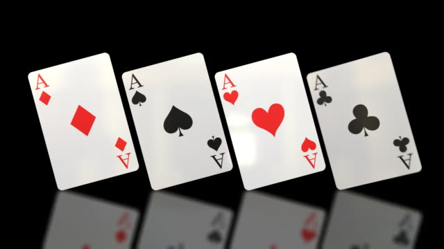 Flipping Aces Playing Cards (HD) video