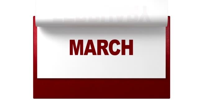 vídeos de stock, filmes e b-roll de adotado páginas em calendário mensal - calendário