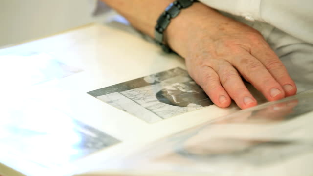 Flipping through a photo album video