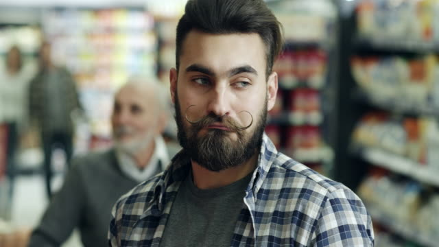 Flirting in supermarket video