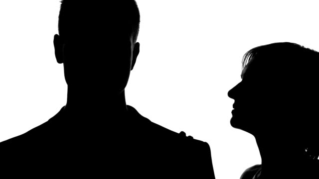 Flirting woman whispering love words boyfriend ear, tender behaviour, intimacy