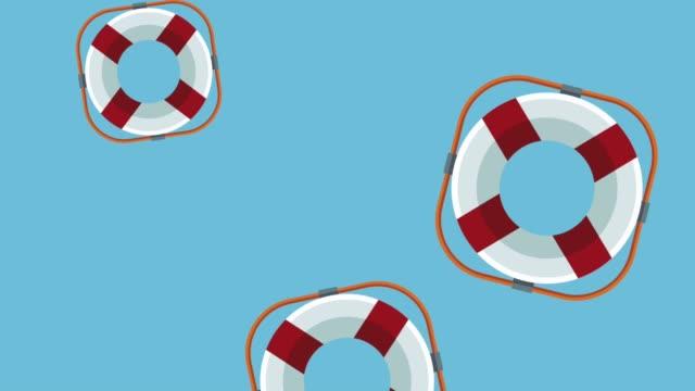 Bидео Float savers falling HD animation