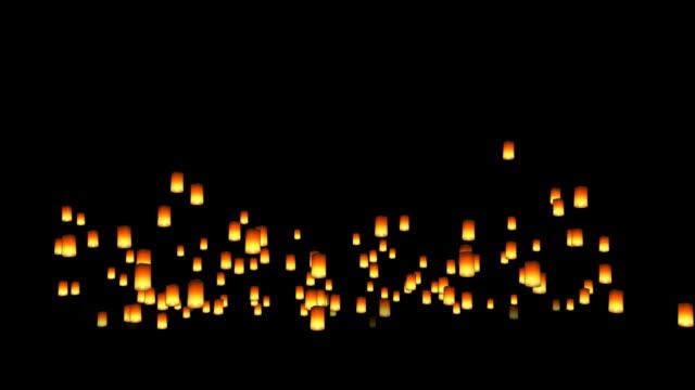плавучий азиатские светильникам - китайский фонарь стоковые видео и кадры b-roll