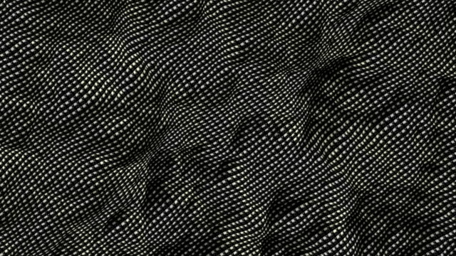 Floating black and white material pattern (loop ready animation). video