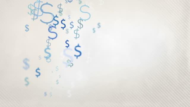 Floating Dollar Symbols Background Loop - Pastel Blue HD video