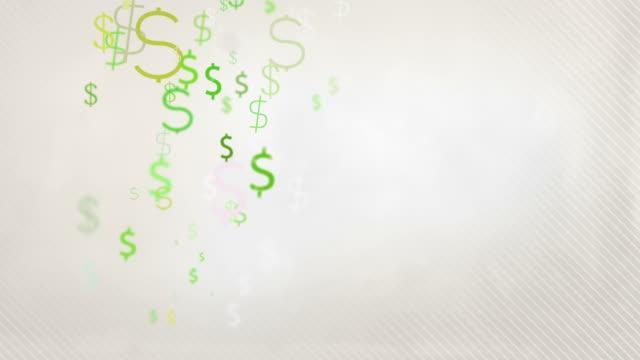 Floating Dollar Symbols Background Loop - Pastel Green HD video