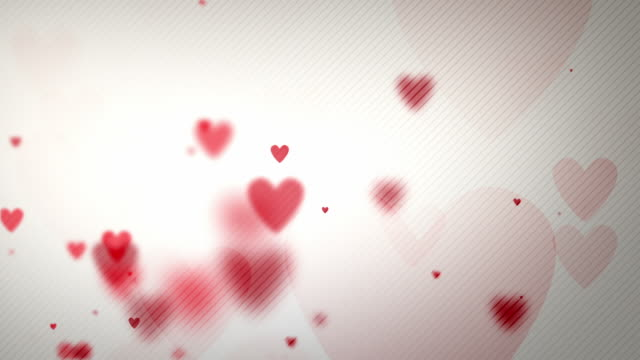 floating hearts background loop - on white paper (full hd) - valentines day stock videos and b-roll footage