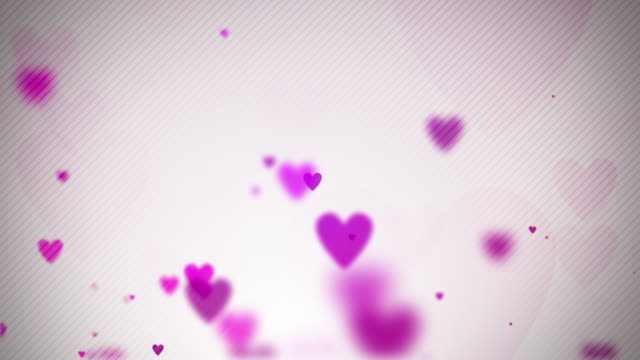 Floating Hearts Background Loop - Soft Pink (Full HD) video