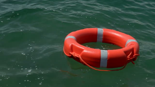 A floating lifebuoy video
