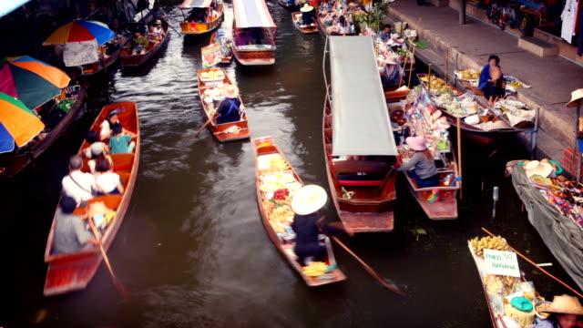 Floating Market, Bangkok, Thailand video
