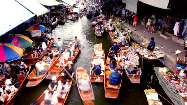 Floating Market, Bangkok, Thailand video