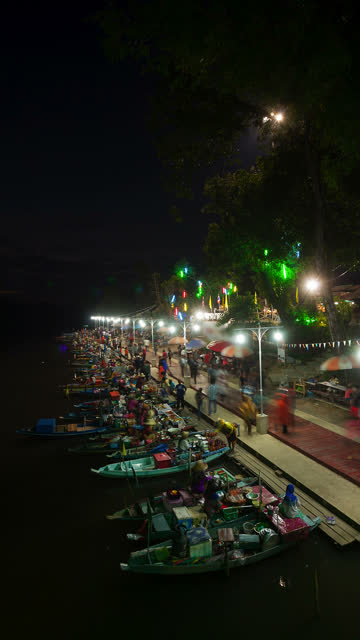 floating market vertical - vertical format video stock videos and b-roll footage