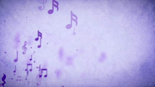 Floating Musical Background Purple Loopable - Stock Video video