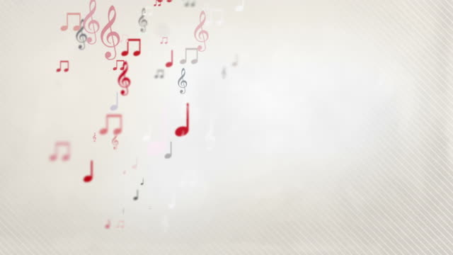 Floating Musical Notes - Red (Full HD) video